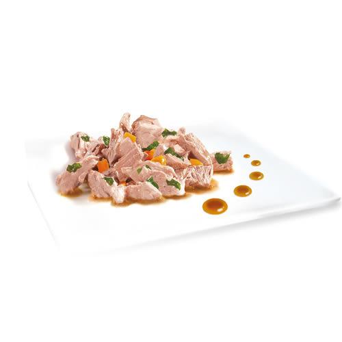 【寵物王國】MonPetit貓倍麗調理包-法式醬燒彩蔬魚片70g