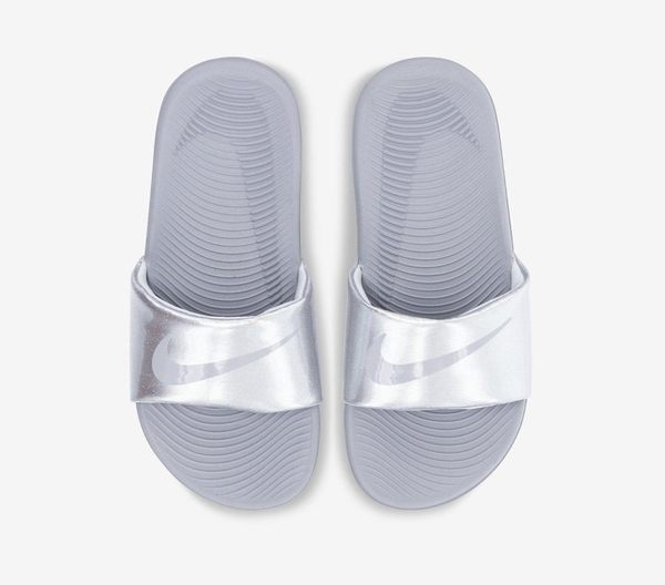 NIKE KAWA SLIDE (GS/PS)童拖鞋 銀灰-NO.819352007