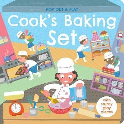 Pop Out&Play:Cook's Baking Set 甜點製作遊戲拼圖書