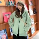 連帽衛衣女加絨加厚秋冬裝上衣鹽系開衫百搭運動風拉鏈外套學生潮 依凡卡時尚