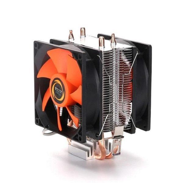 CPU散熱器SG637 雙風扇CPU散熱風扇 雙銅管強勁散熱多平台電腦主機散熱器