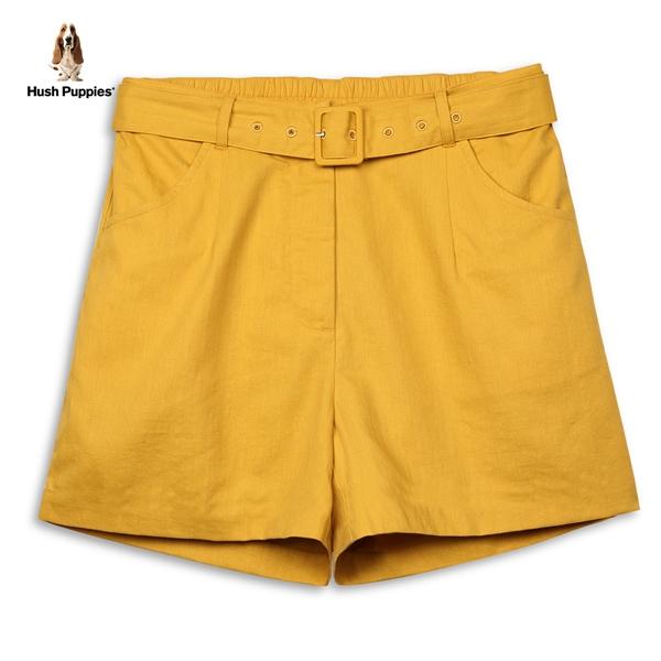 Hush Puppies 短褲 女裝素色附腰帶寬口短褲