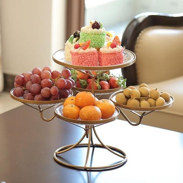 網紅水果盤客廳創意家用果盤茶幾糖果盤歐式多層拼盤北歐風格現代 - 風尚3C