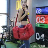 旅行袋 大容量旅行袋短途旅行包手提包男女運動包行李袋健身包單肩斜挎斜背包 七色堇