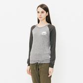 女裝ROOTS - 口袋抽繩長袖T恤-灰色