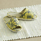 【MAGE】台灣製藺草扶桑花室內拖鞋