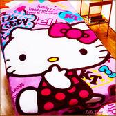 《好評現貨》Hello Kitty 凱蒂貓 正版 加大款 保暖 法蘭絨毯 被子 毯子 刷毛毯 披肩毯 附外袋 B16740