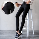 MIUSTAR 韓國激瘦純黑-5KG彈力水洗斜紋長褲(共1色,S-L)【NH0386】預購