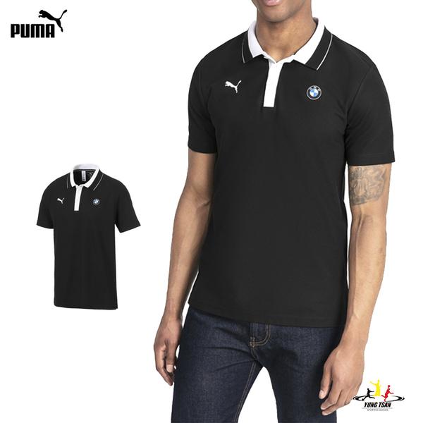 Puma BMW 男 黑 Polo衫 短袖 運動襯衫 聯名款 短T 高爾夫 棉質短袖 運動上衣 59519101