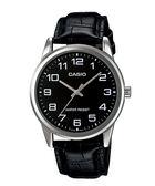 【CASIO宏崑時計】CASIO卡西歐皮帶復古指針錶 MTP-V001L-1B生活防水 台灣卡西歐保固一年