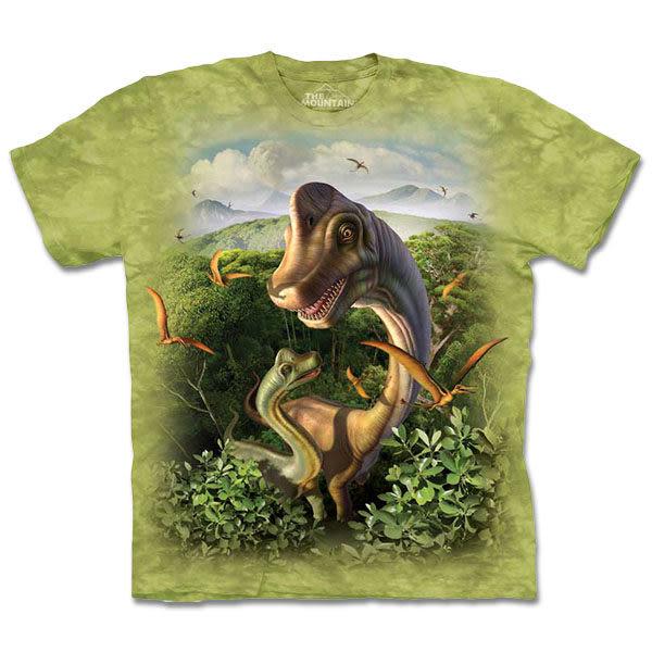 【摩達客】 (預購) 美國進口【The Mountain】自然純棉系列 親子超龍 T恤(10413045141a)