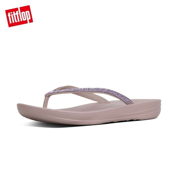 新品限時體驗價8折【FitFlop】IQUSHION SPARKLE ERGONOMIC TOE-THONGS(貂褐色)