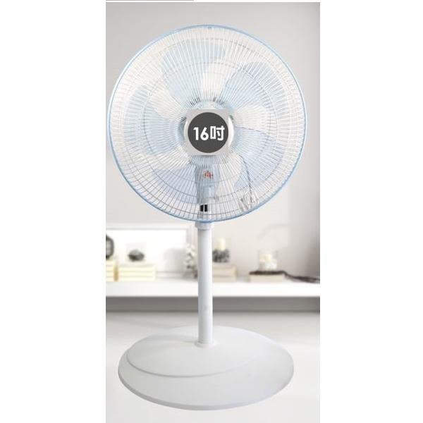 【中彰投電器】晶工牌(16吋)360度擺頭直立式電風扇,S1637【全館刷卡分期+免運費】