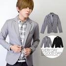 經典簡約質感全素面長袖西裝外套【N933...