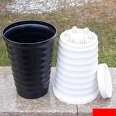 螺紋懶人花盆仿陶瓷塑料盆植物儲水加厚高盆【英賽德3C數碼館】