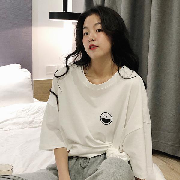 """ZUCA""""S - 圓領短袖休閒短袖T恤 - T-1498"""