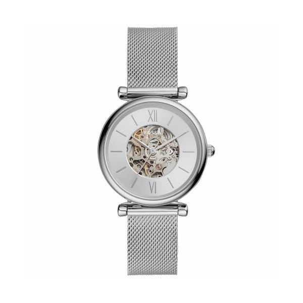 【Fossil】Tailor婉約優雅氣質機械米蘭腕錶-白銀款/ME3176/台灣總代理公司貨享兩年保固