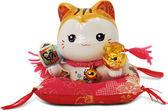 【金石工坊】金運通通來金運貓-黃水晶(高9CM)招財貓 陶瓷開運桌上擺飾 撲滿存錢筒