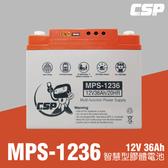 MPS1236智慧型膠體電池12V36Ah /LED燈照明 USB手機充電 12V冰箱 可另外接電源轉換器