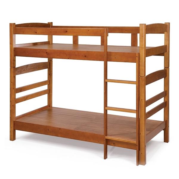 【森可家居】丹妮松木全實木雙層床 8SB092-2 上下舖