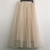 2018春季新款網紗裙半身裙長裙夏季chic短裙