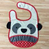 日本 SKIP HOP ZOO Bib動物寶寶圍兜 防水圍兜(貓熊)-超級BABY