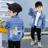 童裝男童牛仔外套春秋寶寶洋氣帥兒童小孩牛仔衣韓版潮流