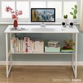 電腦桌台式家用簡約經濟型臥室桌子簡易單人書桌組裝辦公桌寫字台  LannaS YDL