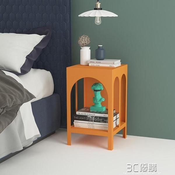 床頭櫃 [ELF生活志]北歐簡約現代臥室輕奢床頭櫃拱門鐵藝儲物收納置物架HM 雙十二免運