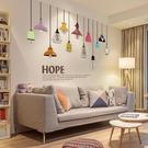 壁貼壁紙 客廳臥室沙發背景墻裝飾墻貼紙燈泡 墻壁時尚個性創意墻紙貼畫jy【全館免運】