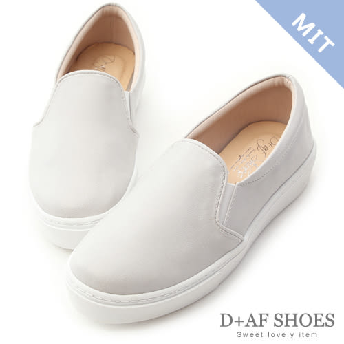懶人鞋 D+AF 舒適主打.MIT素面加厚底休閒懶人鞋*灰