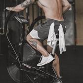 瘋狂健身夏季薄款防走光彈力速干運動短褲男跑步訓練五分褲子 時尚芭莎