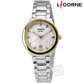 LICORNE 力抗 / LT053LTWI-K / entree 簡約俐落魅力彩貝不鏽鋼腕錶 白色 金色 30mm