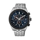 【Citizen星辰】GENT'S光動能萬年曆三眼計時腕錶-神秘藍/BL5568-54L/台灣總代理公司貨享兩年保固