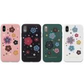 JANESPER Apple iPhone Xs Max 6.5吋 加州花園 金屬鉚釘搭配立體花朵 設計師精品手機殼/保護套