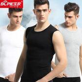 3件裝!男士運動無袖寬肩汗背心夏季打底坎肩砍袖健身純棉t恤緊身