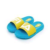 FILA 中童MD撞色拖鞋-藍綠(16~21cm)