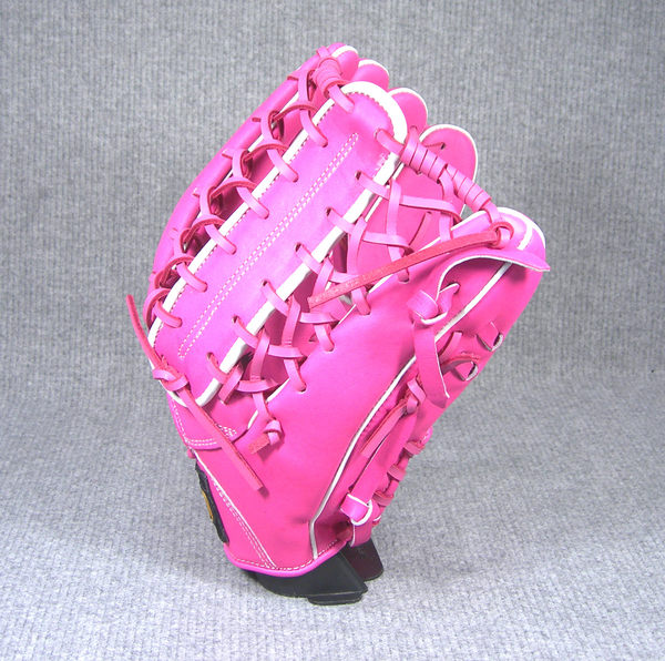 「野球魂」--「ZETT」【訂做等級】硬式棒球手套(外野手,3SP037,粉紅色,牛舌檔)