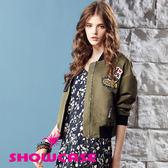 【SHOWCASE】個性圖標飛行員短版外套(綠)