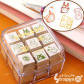 ❤Hamee 日本 吉卜力 宮崎駿 Totoro 龍貓 豆豆龍 人物造型 木製印章組 177-123514