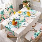 時尚可愛空間餐桌布 茶几布 隔熱墊 鍋墊 杯墊 防水餐桌巾 627 (100*140cm)