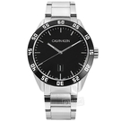 CK / K9R31C41 / 美式時尚 數字刻度 日期 防水100米 不鏽鋼手錶 黑色 42mm