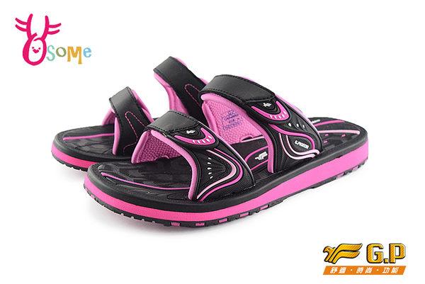 GP拖鞋 童拖鞋 女拖鞋 休閒涉水拖鞋 中大童O8913#黑桃◆OSOME奧森童鞋