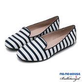 休閒鞋 春日物語條紋莫卡辛休閒鞋(藍)*BalletAngel【18-8391b】【現+預】