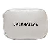 BALENCIAGA 巴黎世家 Everyday 白色小牛皮斜背相機包 XS Camera Bag 489809 BRAND OFF