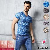 太陽的後裔【TELITA】吸溼涼爽迷彩網眼短袖V領衫/T恤(超值4件組)