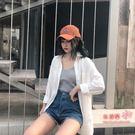 襯衫 白防曬衣女中長款2019夏新款仙女范薄款襯衣百搭棉麻雪紡襯衫外套 M-XL