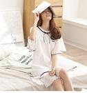 全館83折 純棉短袖韓版寬鬆甜美可愛清新學生睡衣女夏天外穿家居服