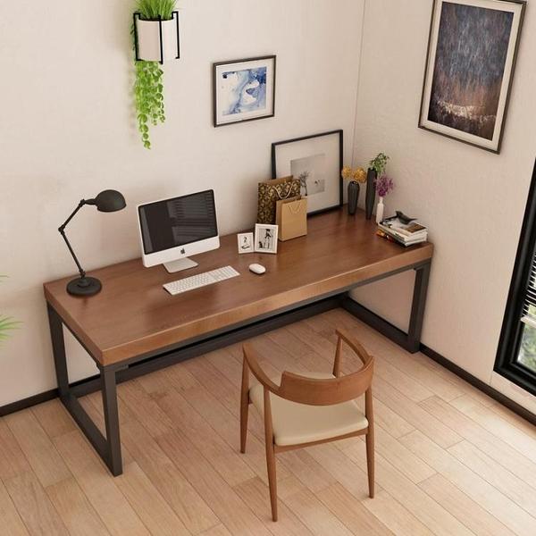 loft實木轉角書桌家用臺式寫字桌子墻角L型辦公桌簡約臥室電腦桌【頁面價格是訂金價格】