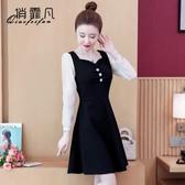限時特價 今年流行的連衣裙女裝春秋裝年新款潮流顯瘦氣質長袖秋款裙子